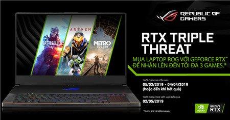 Sắm laptop Asus ROG nhận ngay code game siêu khủng