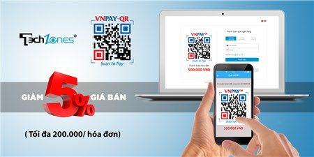 Hot tại Techzones - Quét mã VnPay, giảm giá 5% toàn bộ sản phẩm, tối đa 200.000