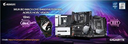Mua bo mạch chủ B460/H470/W480 AORUS/ VISION - Tặng đồng hồ AORUS