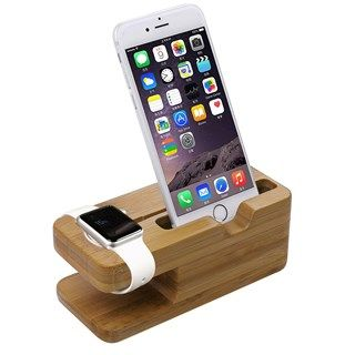 Đế sạc gỗ Apple Watch - Iphone