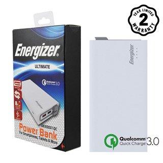 Pin sạc dự phòng Energizer 20000mAh Li-Po QC3.0 3 Output - UE20001QC