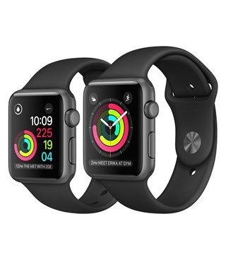 Apple Watch Series 2 Space Gray Aluminum Case with Black Sport Band