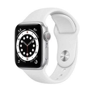 Apple Watch Series 6 Silver Aluminum, White Sport, GPS 40mm