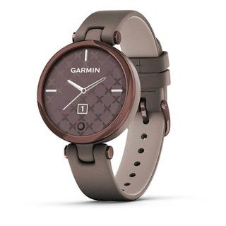 Garmin Lily Dark Bronze Bezel - Paloma Case - Leather Band