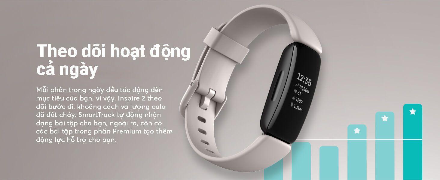 Fitbit Inspire 2 - Theo dõi hoạt động cả ngày