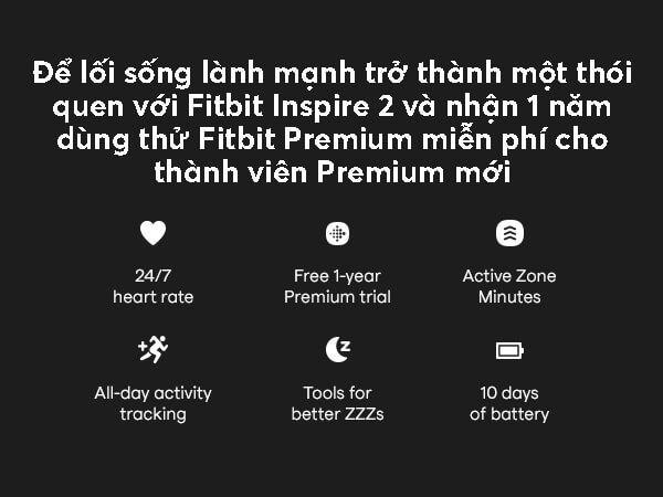 Fitbit Inspire 2 - Tóm tắt tính năng