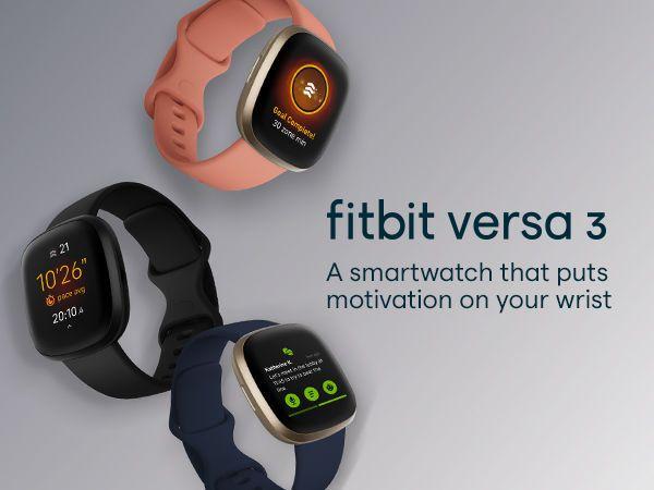 Fitbit Versa 3 - Đồng hồ thông minh theo dõi chuyển động
