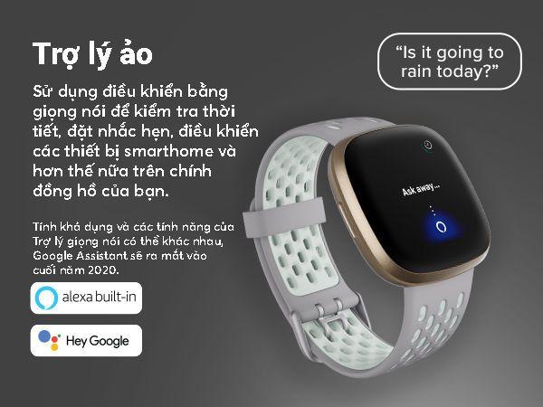 Fitbit Versa 3 - Điều khiển bằng giọng nói
